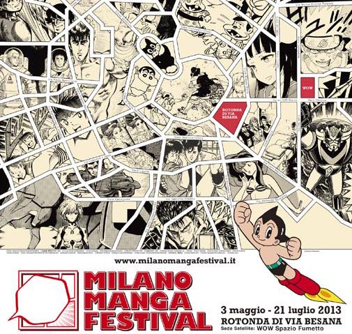 """Prima edizione del """"Milano Manga Festival"""" dal 3 maggio al 21 luglio 2013"""