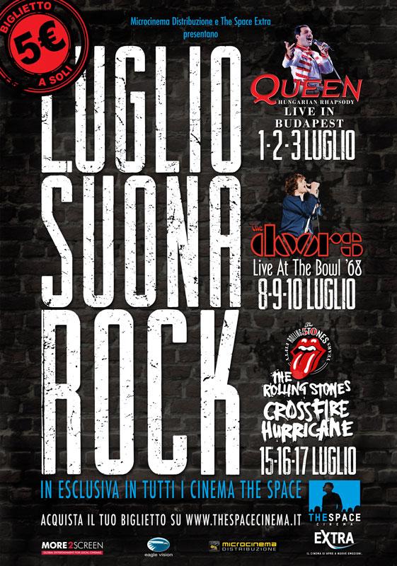 Luglio suona rock. Queen, Doors e Rolling Stones al cinema a Milano.